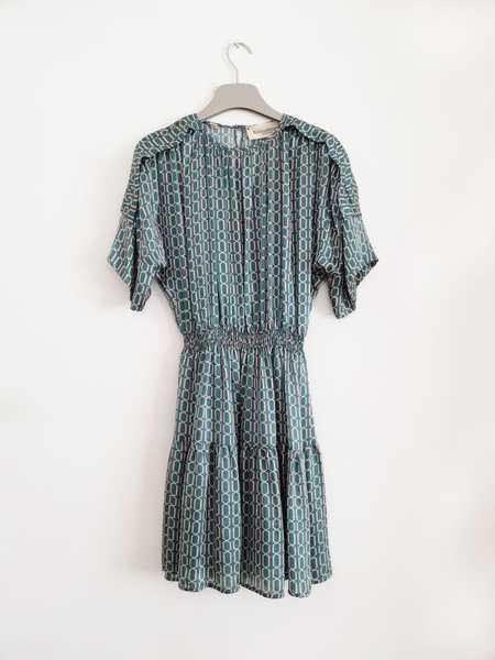 Bibliotheque Mini Silk Dress - Turquoise