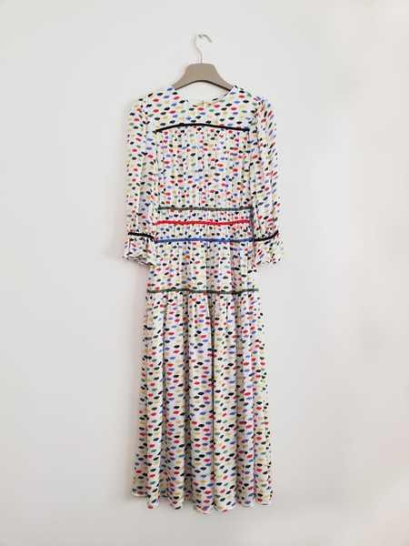 Bibliotheque Multi-Color Silk Dress