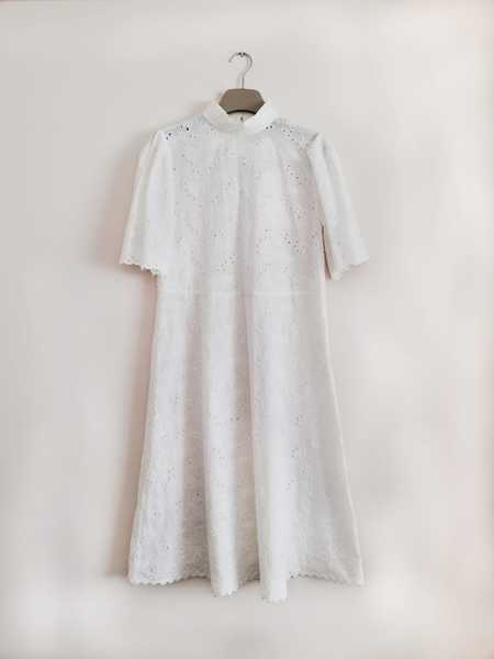 Bibliotheque Cotton Lace Dress - White