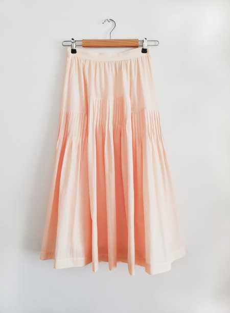 Bibliotheque Ribbed Skirt - Orange/Pink