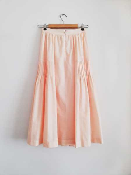 Bibliotheque Ribbed Skirt - Orange/Pink