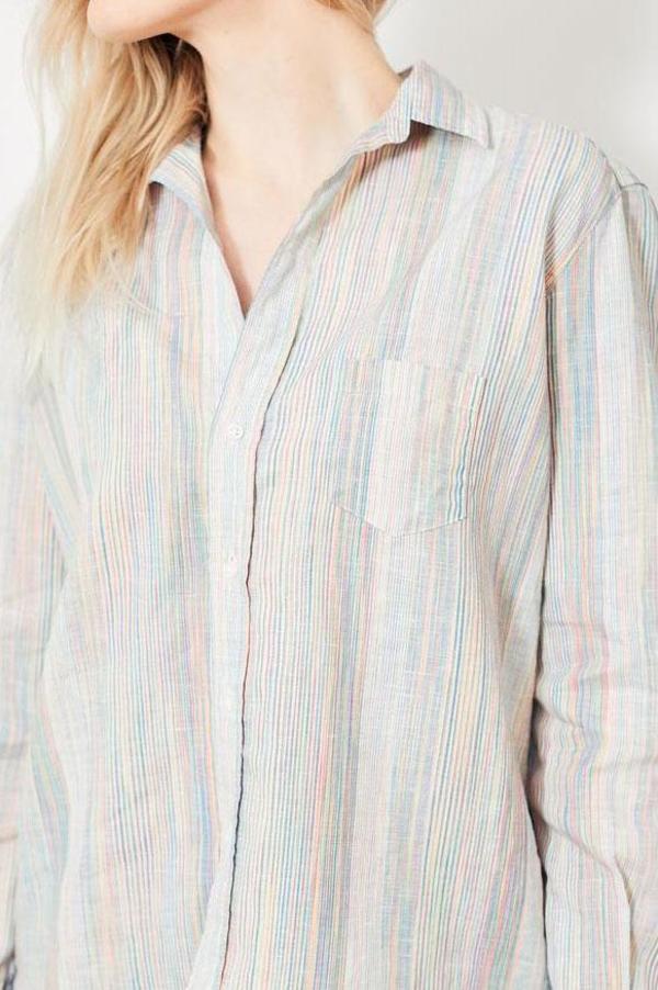 Frank & Eileen Eileen Rainbow Button Down - Rainbow Multi Stripe