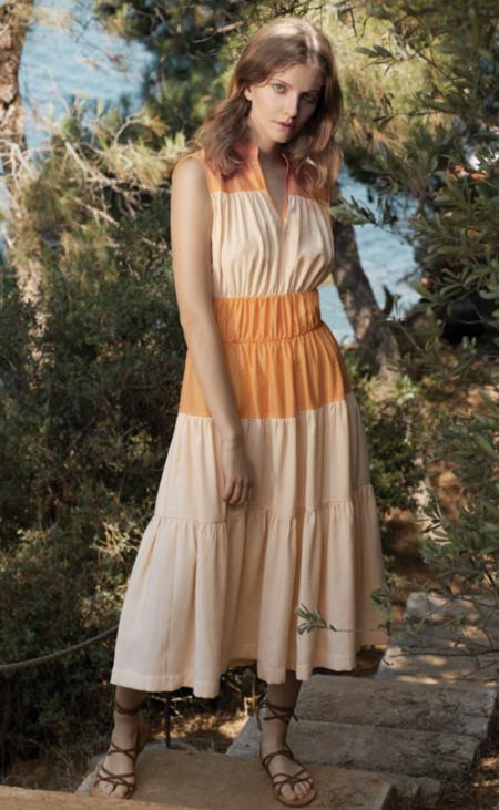 Bibliotheque Sleeveless Dress - Orange