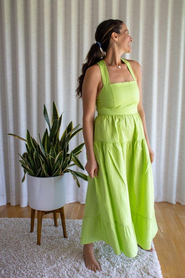 Rachel Antonoff Hannah Dress - Lime Multi