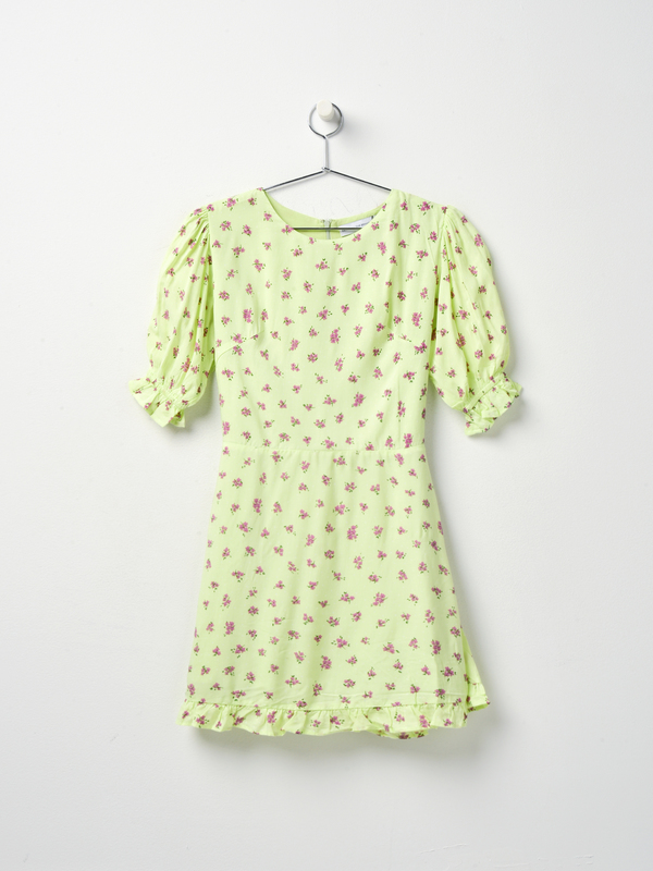 Faithfull The Brand FLORENCE MINI DRESS - LIME