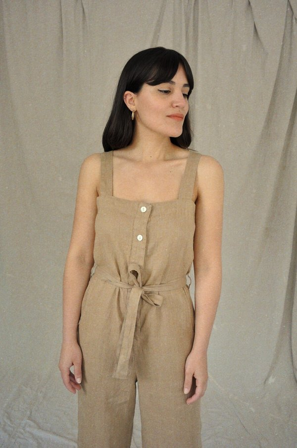 Sugar Candy Mountain Orchid Jumpsuit - Barley