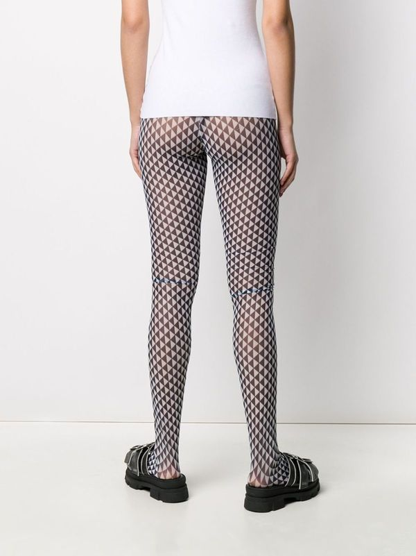 Henrik Vibskov Flag Mesh Tights - Blue