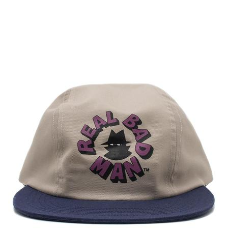Real Bad Man 3 Panel Hat - Cream
