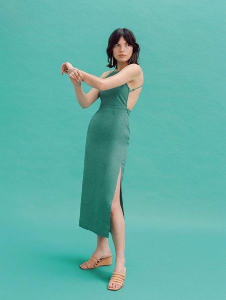 PALOMA WOOL CARLOTA DRESS - GREEN LINEN