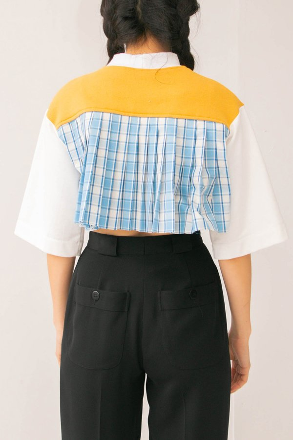 Collect Call Pleated Cropped Top