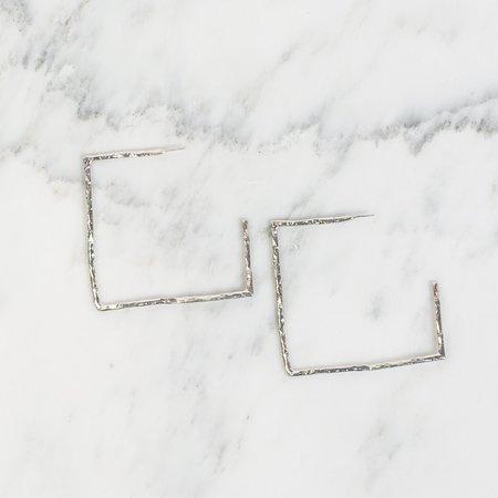 PAR ICI Textured Square Hoops