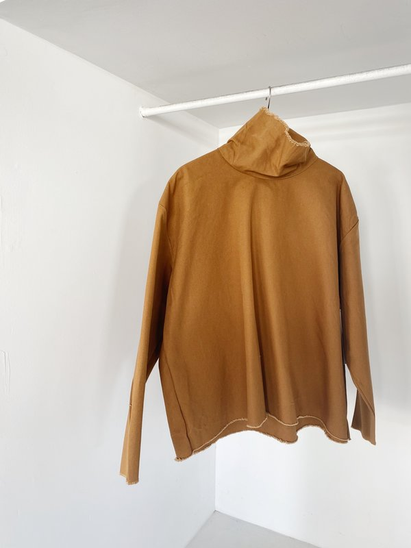 Ashley Rowe 3/4 Dyed Turtleneck - Desert Tan