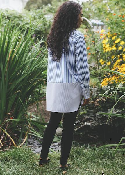 Achro - Striped Block Shirt in Blue