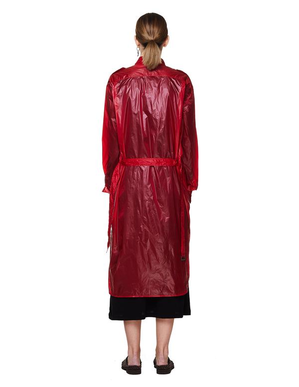 Ann Demeulemeester Transparent Rain Coat - Red