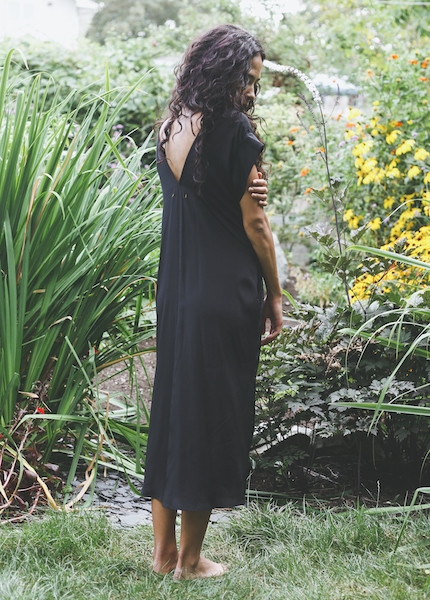Esby Apparel - Banks Silk Kimono Dress in Black