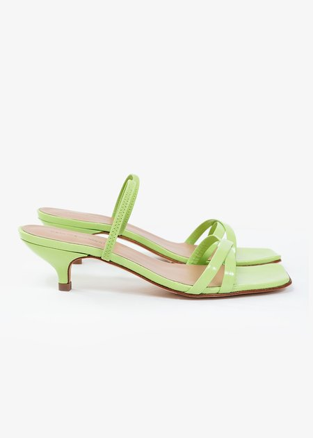 Paloma Wool Ringo Mules - Green fluor