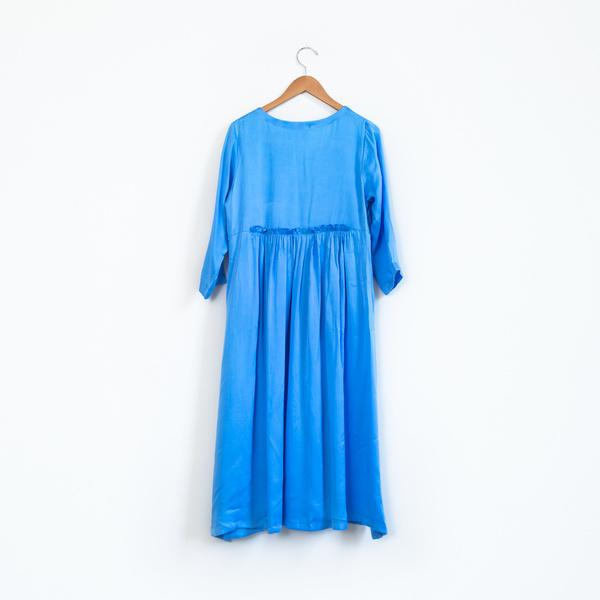 Zaily Keiffer Hell Bitch Silk Pullover Dress - Cornflower Blue