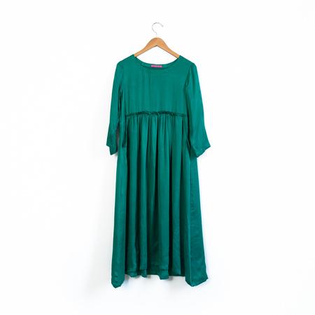 Zaily Keiffer Hell Bitch Silk Pullover Dress - Emerald Green