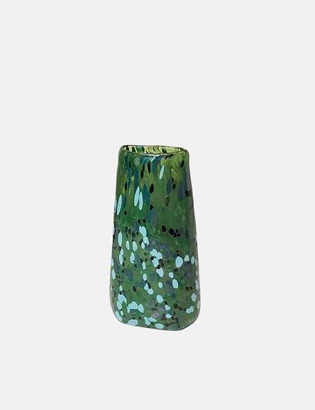 Broste Copenhagen Fjola Vase (Handmade Glass) - Green
