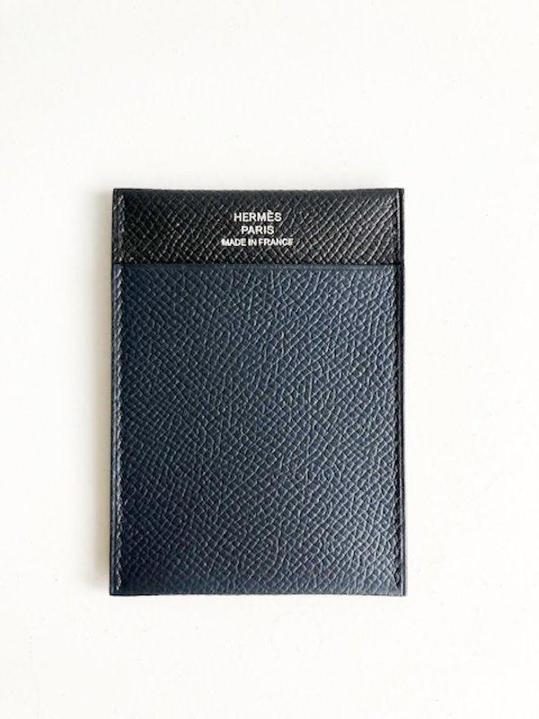 [Pre-loved] Hermes Leather Card Holder - Black