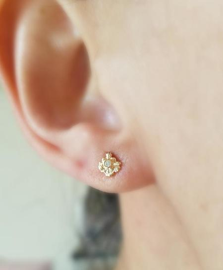 Communion by Joy Diamond Burst Studs - 14K Yellow gold