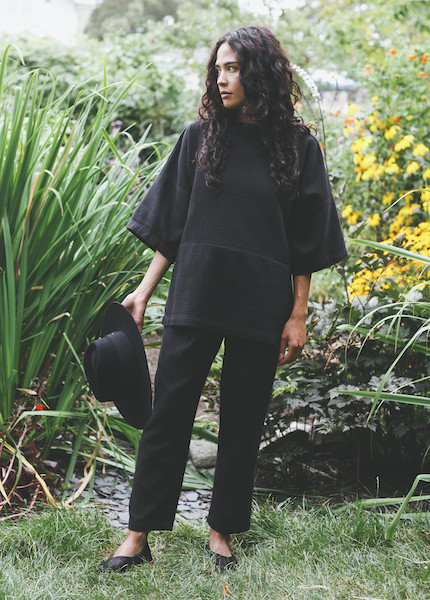 Black Crane - Quilted Pant in Black