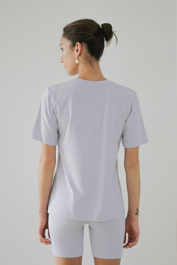 LOCLAIRE Solar Powered T shirt - Marshmallow