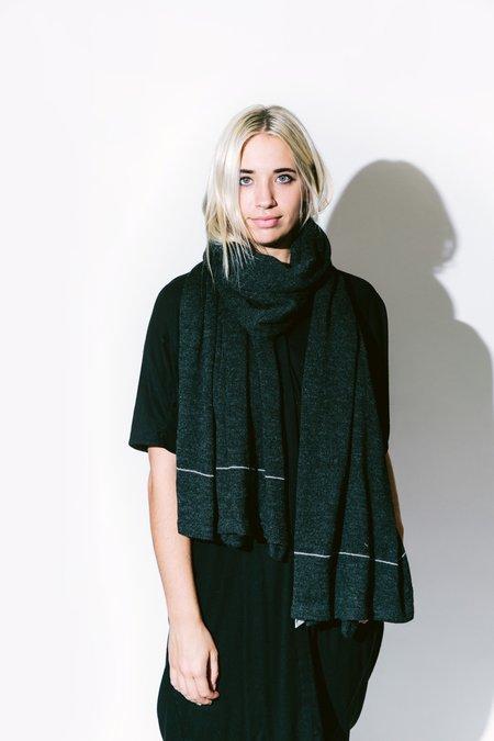 été noir double scarf - charcoal