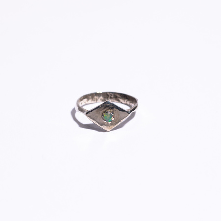 Unearthen Jewelry Ring with Opal - silver