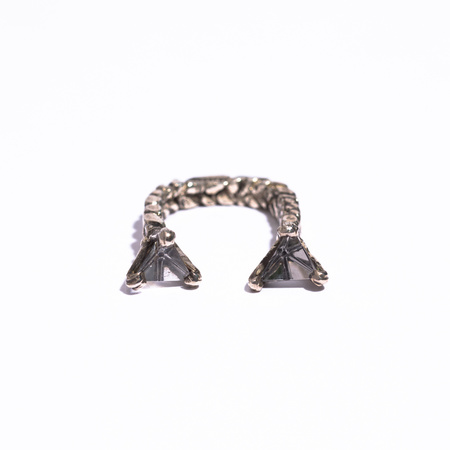 Unearthen Jewelry Mini Double Prism Open Ring