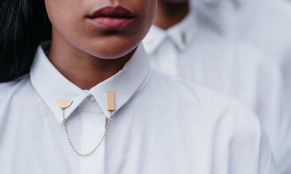 Body Double Shapes Collar Pin