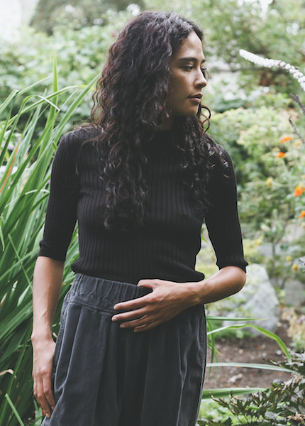 Achro - Short Sleeve Ribbed Sweater in Black