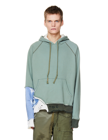 Greg Lauren Cotton Hoodie - Green