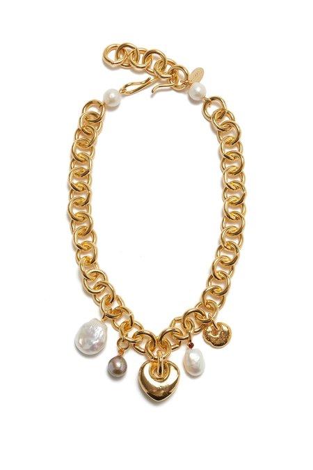 Lizzie Fortunato Medina Heart Necklace - Gold Plate