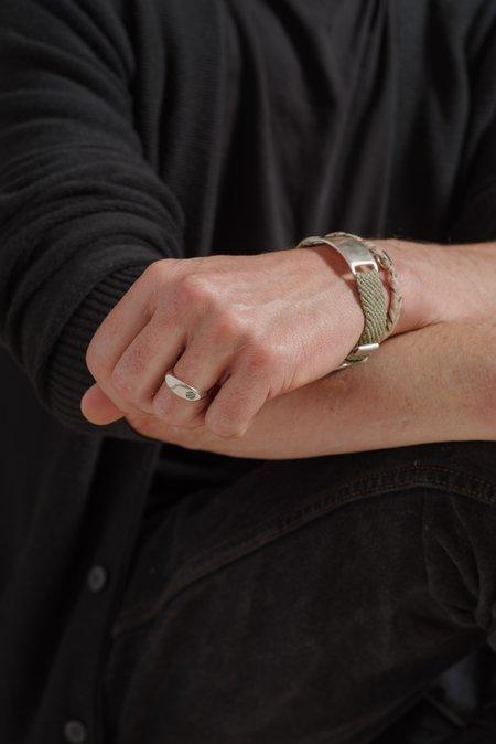 Scosha OLIVE BELT BRACELET - STERLING SILVER