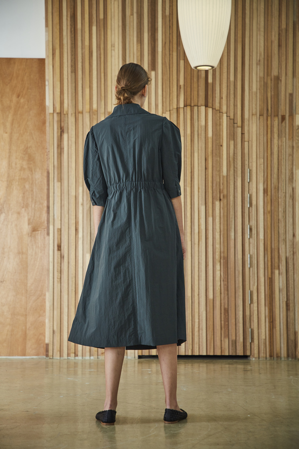 Maison De Ines TRENCH COAT DRESS - green