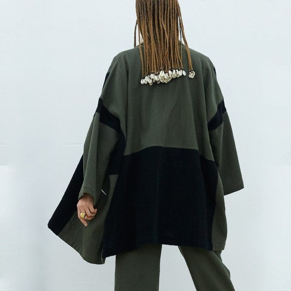 Atelier Delphine Haori Coat Patched Boa