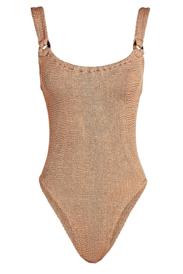 Hunza G Domino swim suit - Mocha