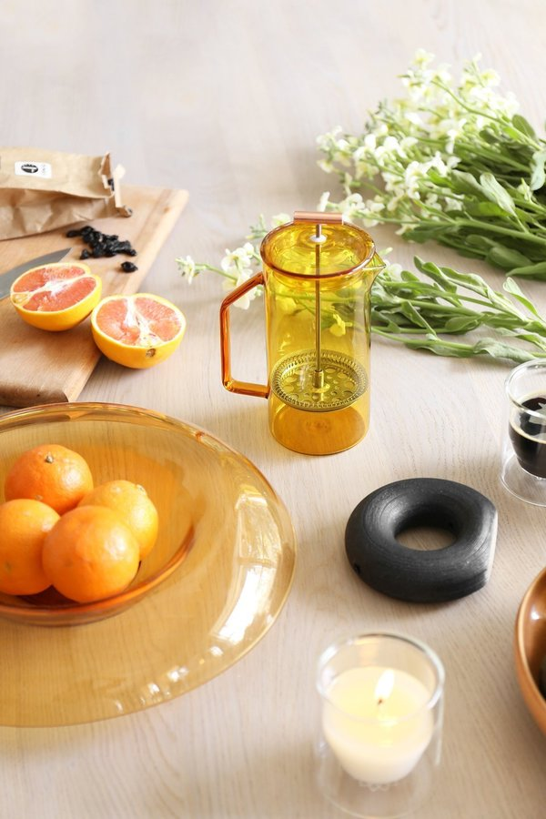 Yield 850 mL Glass French Press - Honey