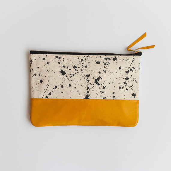 Anna Joyce - Splatter Clutch (Teal or Yellow)