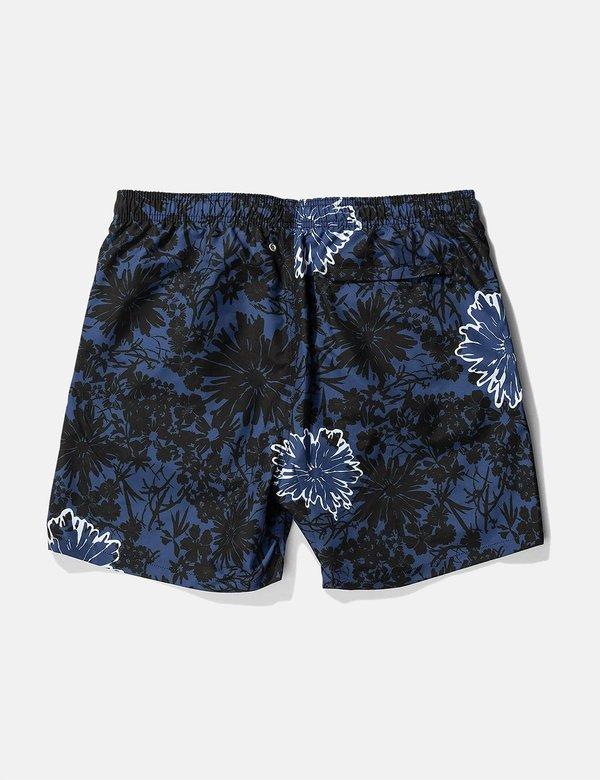 Norse Projects Hauge Flower Print Swim Shorts - Twilight Blue