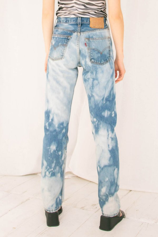 Clouds Hand-Dyed Levi's 501 Denim (XS)