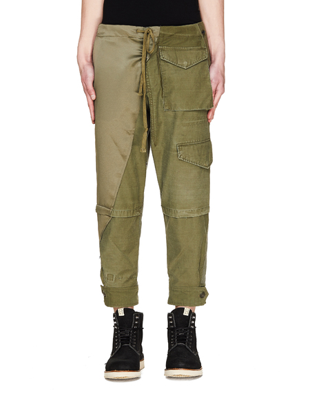 Greg Lauren Cotton Trousers - Green