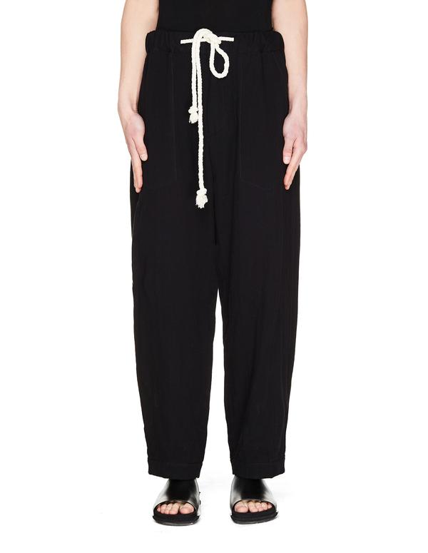 Ann Demeulemeester Cotton Trousers - Black