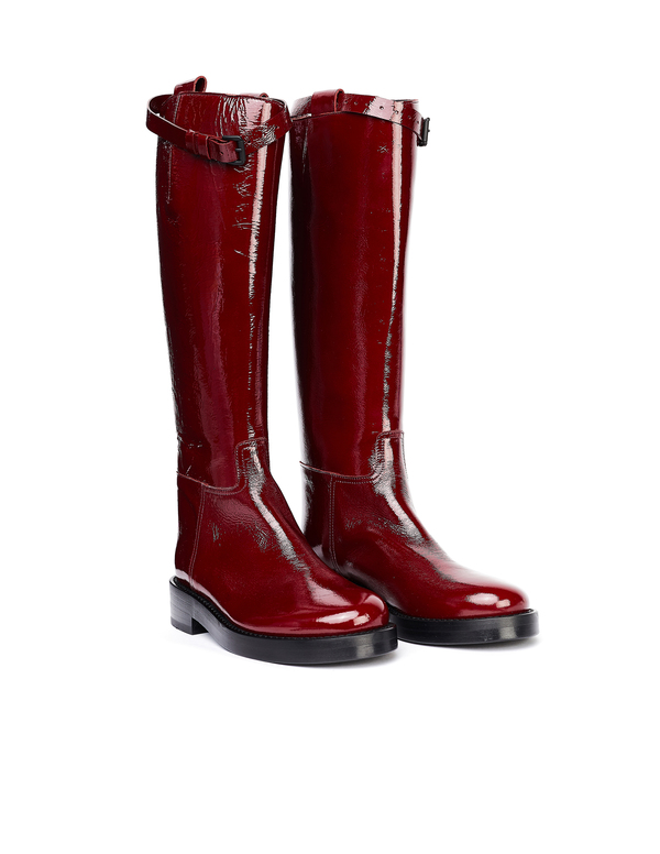 Ann Demeulemeester Leather Boots - Red