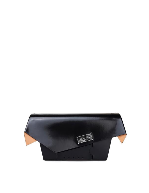 Maison Margiela Patent Leather Snatched Bag - black