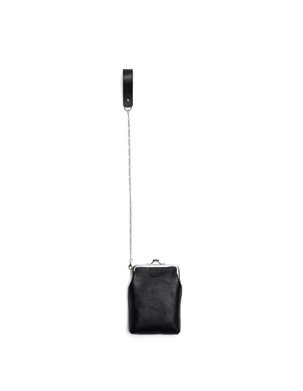 Y's by Yohji Yamamoto Leather Bag - black