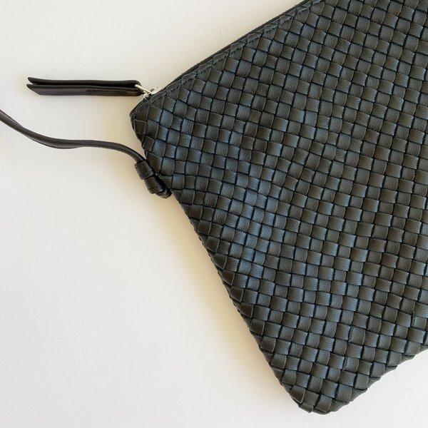 Claramonte Woven Pouch Bag - Black