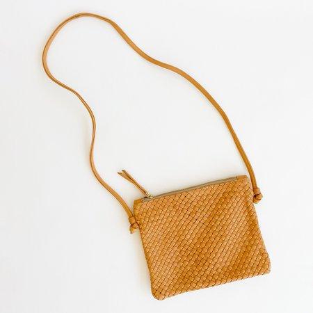 Claramonte Woven Pouch Bag - Camel