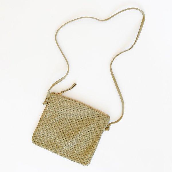 Claramonte Woven Pouch Bag - Khaki
